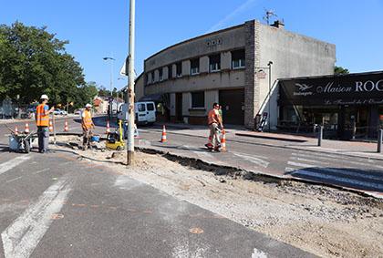 Les travaux sur le carrefour Route de Dijon – Avenue J.F Kennedy à Longvic